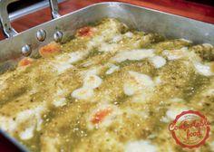 comfortable food - enchiladas verdes with chicken