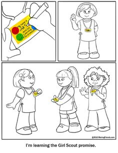 Daisy Girl Scout Promise Coloring Page