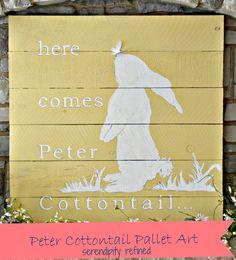 DIY Peter Cottontail sign