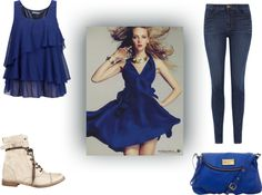 """""""Blue"""" by libbysstyle on Polyvore"""