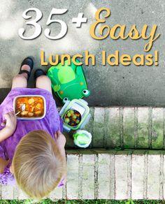 35+ Easy Lunch Ideas for #backtoschool via @greenchildmag RT @FoodieTots