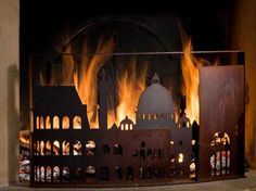 Cityscape Fireplace Screens - Covers that Pay Tribute to the Fires of London and Rome