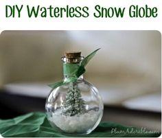 Waterless Snow Globes - 18 Great DIY Christmas Ideas for Enhancing the Christmas Spirit