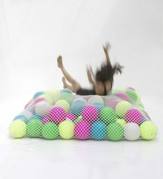 Wave 58 Sofa - 115 x 90 cm - Exclusivity by Florence Jaffrain - As a kid I dreamed of a room full of balls. As a adult I guess this fun looking sofa, mattress is the next best thing!