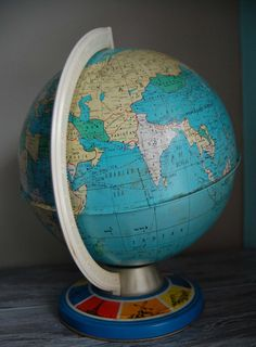 Vintage Metal Globe...only $15 but also only 11 inches