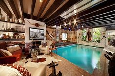 Yep, this home definitely has a pool in the living room.