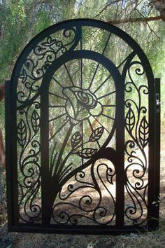 lovely design for garden gate