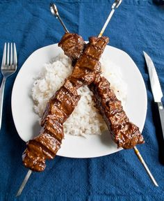 Grilled Beef Teriyaki Skewers With Ramps (or Scallions) Recipes ...