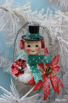 Vintage Style Christmas Ornament   Tin Mold Cute by MagpieEthel