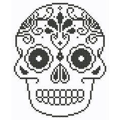 Ornate Skull Cross Stitch Chart by neverdyingpoet on Etsy