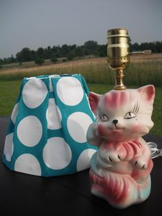 Kitty Kat Lamp by ARTificial lights on Etsy