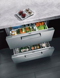 Chilled Produce Drawers in the Kitchen