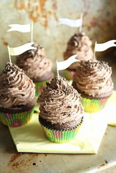 Chocolate Cloud Cupcakes (use GF flour)