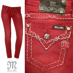 Paint the town red this weekend. #MissMeJeans