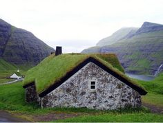 Grass Roofed House, Streymoy, Faroe Islands  photo via volga