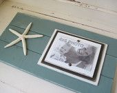 Three Plank Frames with Shades of Turquoise  for 4X6 Pictures.