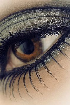 Love the eye shadow. #makeup, #grey, #silver, #eye, #eyeshadow, #beauty