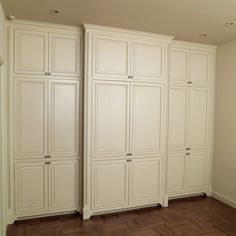 I like the panels on these wall to wall closets