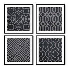 Geometric Prints  Wall Art Quad  Geometric by SusanNewberryDesigns, $55.00