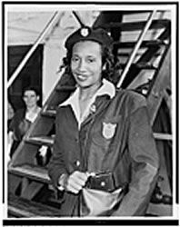 Alice Coachman - First African American woman to win a gold medal at the Olympics for the high jump at the 1948 London Olympics.