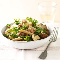 Get the recipe for Sausage and Mushroom Penne