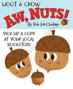 Aw, Nuts! Acorns from Hoot and Crow on TeachersNotebook.com -  (1 page)  - HiRes PNG acorns.