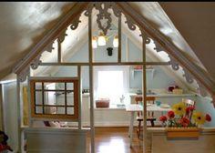 playhous, little girls, kid playroom, play spaces, attic playroom, kid rooms, attic rooms, play areas, bonus rooms