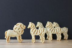 Animal Cracker Cookies from Cookistry (don't store the predator cookies next to the prey...)