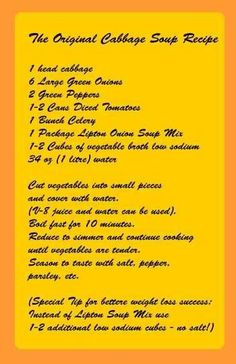 Healthy Cabbage Soup Recipe ...   Cabbage soup