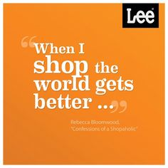 We want to help you finance your shopping spree … because we're pro-making-the-world-better kind of people.    **Enter to win shopping sprees and free jeans at http://www.facebook.com/leejeans/app_447802371906521?ref=ts.