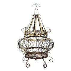 Vintage Iron Bird Cage - $325