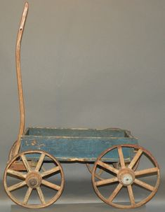 Blue Child's Wagon, ca. 1900