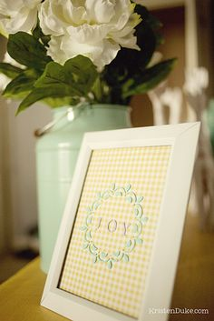 Stenciled Glass: Mother's Day Gift