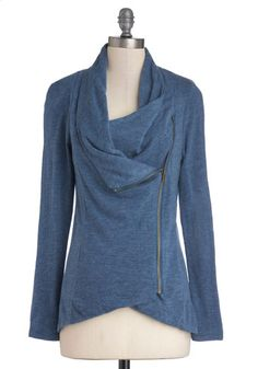 Airport Greeting Cardigan in Blue, #ModCloth