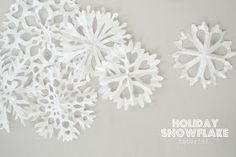 craft, holiday snowflak, photo tutorial, holiday photos, paper snowflakes, holidays, coffee filters, christma, coffe filter