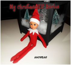 I have made my own elf from a broken Barbie and an old Tshirt