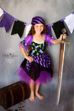 Pirate costume purple Pirate skull tutu Halloween costume