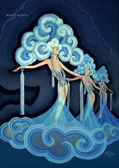 Folies Bergere 1930s Art Deco Showgirls Dancers Chorus Girls Vintage Poster Print