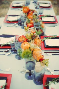 Southwestern Style Reception Tablescape. Source: Ruffled #tablescape #reception #southwesterntheme