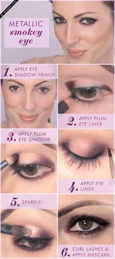 metallic smokey eye tutorial