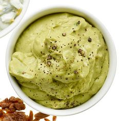 "Avocado ""Whip"" a light and creamy variation on traditional guac. 