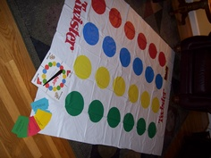 Bible Skill Twister: Develop Bible Skill questions and print them on yellow, green, blue, and red cards.