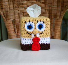 squarep tissu, spongebob squarep, tissue boxes, knit, cozi pattern, tissue box covers, crochet patterns, box cozi, tissu box
