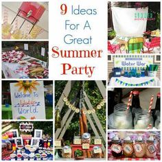 9 Ideas For A Great Sumer Party
