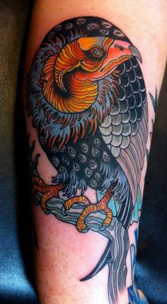 Red Bearded Vulture Tattoo