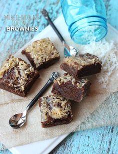 Milk Chocolate Coconut Brownies