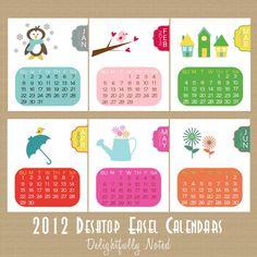 2012 Calendar Desk Calendar