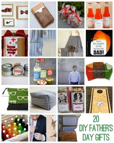 twenty great DIY fathers day gift ideas  these are cute non-overly-girly projects.