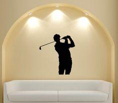 Housewares Sport People Man Golfer Wall Vinyl Decal by DecalHouse, $24.65