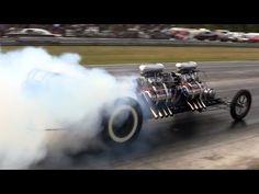 2013 Jalopy Showdown Drags Ken Kull Twin Hemi Dragster Nostalgia Drag Racing Beaver Springs - YouTube